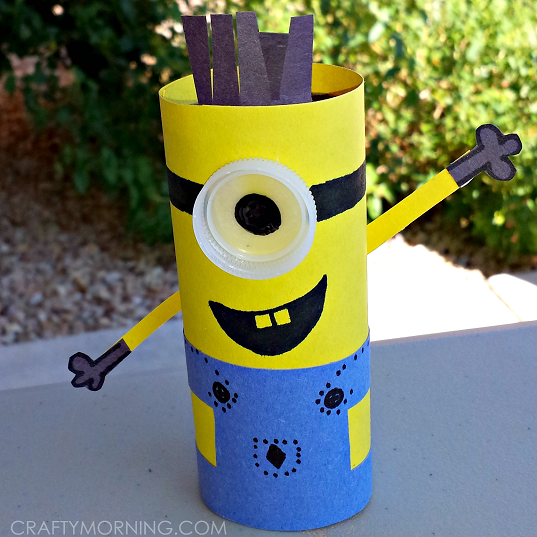 Toilet Paper Roll Minion Craft For Kids