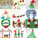 Christmas & Winter Fingerprint Craft Ideas For Kids