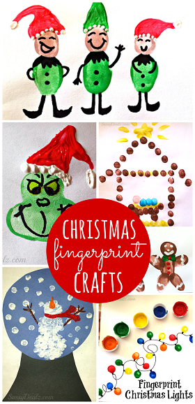 Christmas winter fingerprint craft ideas for kids for Winter holiday crafts for kids