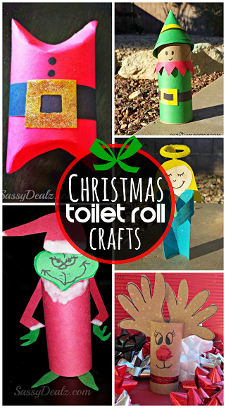 Crafts with Toilet Paper Rolls for Christmas