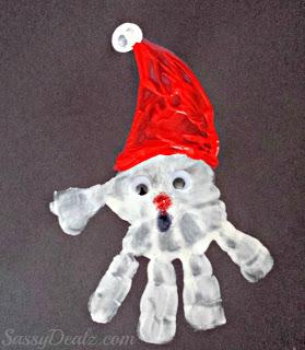 c2ec00e8eb018 Handprint Santa Claus Craft For Kids - Crafty Morning