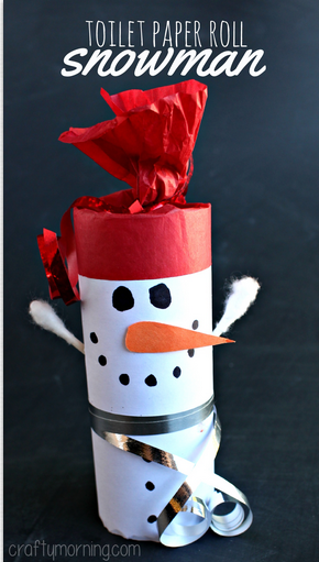 paper roll snowman craft list of easy snowman crafts for to make crafty morning 5131