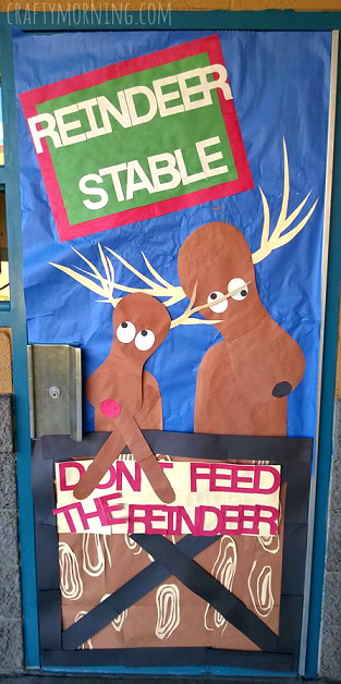 Don T Feed The Reindeer Classroom Door Decoration For