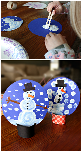 List of easy snowman crafts for kids to make crafty morning for Snow globe craft for kids