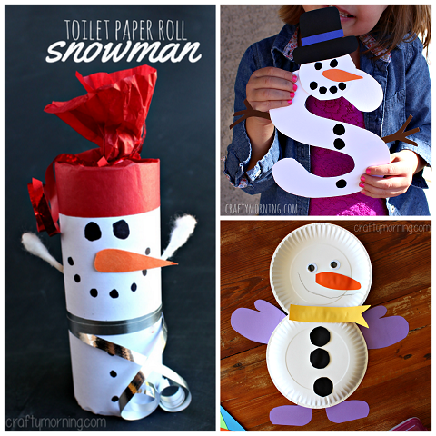 List Of Easy Snowman Crafts For Kids To Make Crafty Morning