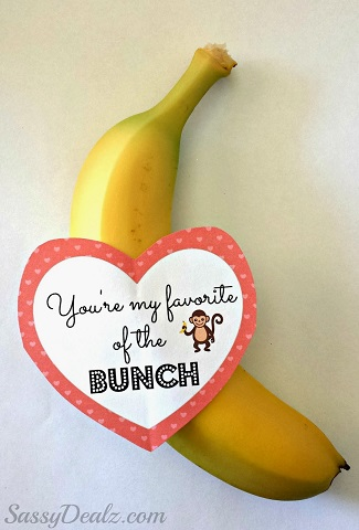 banana valentines day gift kids 1