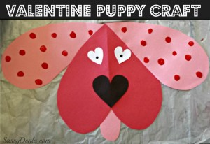 Cute Dog Valentines Day Craft For Kids