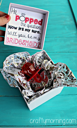 he-popped-the-question-ring-pop-bridesmaid-idea