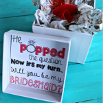 """He Popped The Question..."" Bridesmaid Ring Pop Idea + Free Printable"