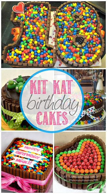 DIY Birthday Cakes Using Kit Kats (Chocolate Bars ...