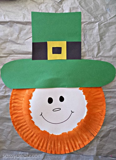 Paper Plate Leprechaun Craft For Kids Crafty Morning