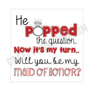 """""""He Popped The Question..."""" Bridesmaid Ring Pop Idea ..."""