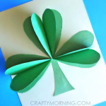 3D Paper Shamrock Craft For St. Patrick's Day