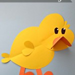 Paper Chick Craft For Kids
