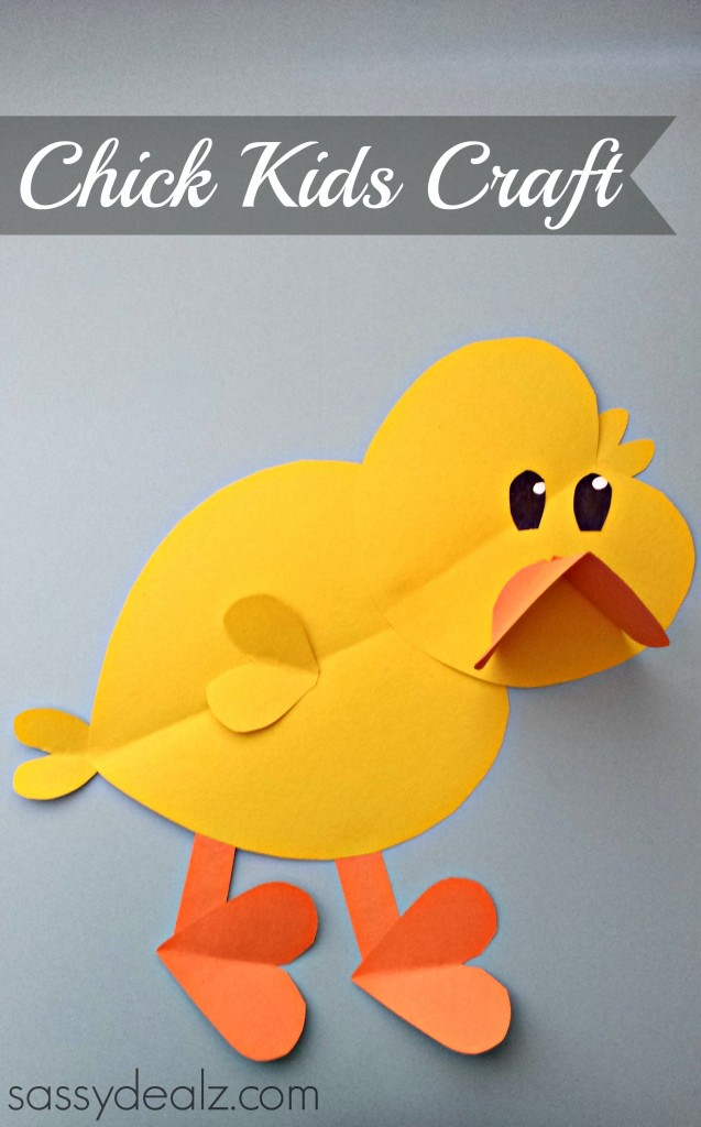 construction paper chick craft paper craft for crafty morning 3681