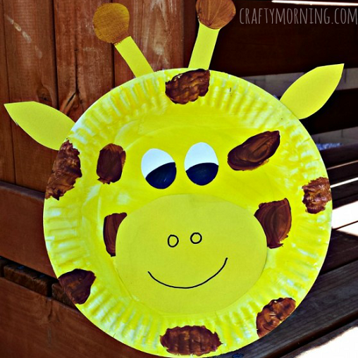 giraffe-paper-palte-crafts-kids & Paper Plate Giraffe Craft For Kids - Crafty Morning