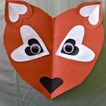 Paper Heart Fox Craft For Kids