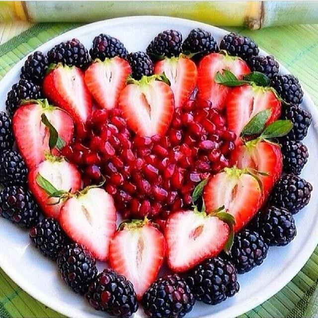 healthy fruit heart for a valentines day treat crafty morning - Healthy Valentines Treats