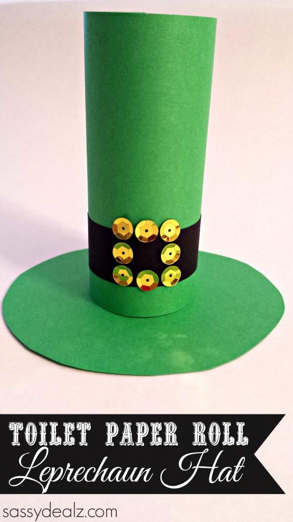 Leprechaun Hat Toilet Paper Roll Craft For St Patricks Day Crafty Morning