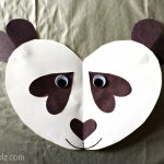 Panda Bear Heart Craft For Kids