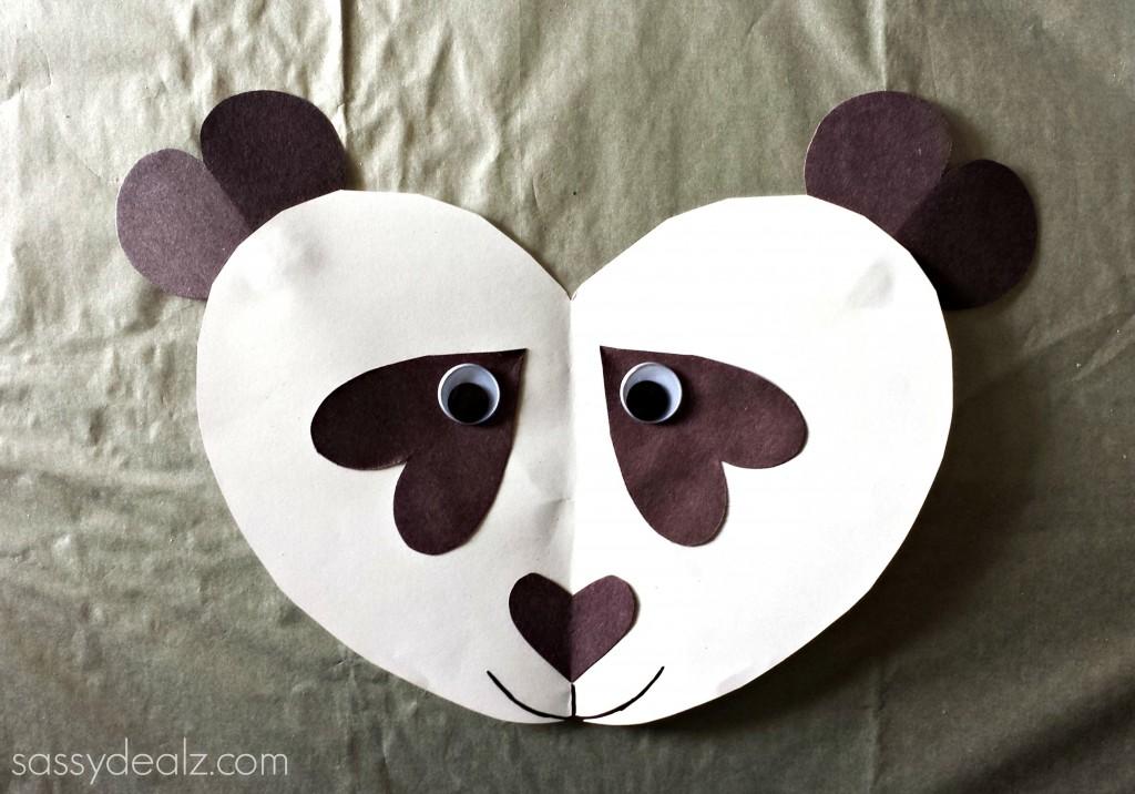 Panda Bear Heart Craft For Kids Crafty Morning