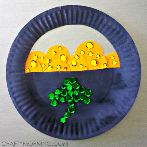 Paper Plate Pot Of Gold St Patricks Day