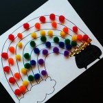 Pom Pom Rainbow Craft For St. Patrick's Day (Free Printable)