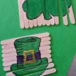 St. Patrick's Day Popsicle Stick Craft (DIY Puzzles)