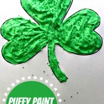 Puffy Paint Shamrock Craft For Kids