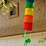 Rainbow Paper Towel Wind Catcher Craft For Kids
