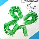 Kids Shamrock Footprint Craft For St. Patrick's Day
