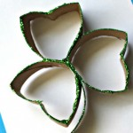 Toilet Paper Roll Shamrock Glitter Craft