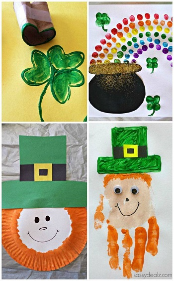 easy st patrick s day crafts for kids crafty morning