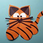Heart Tiger Craft For Kids