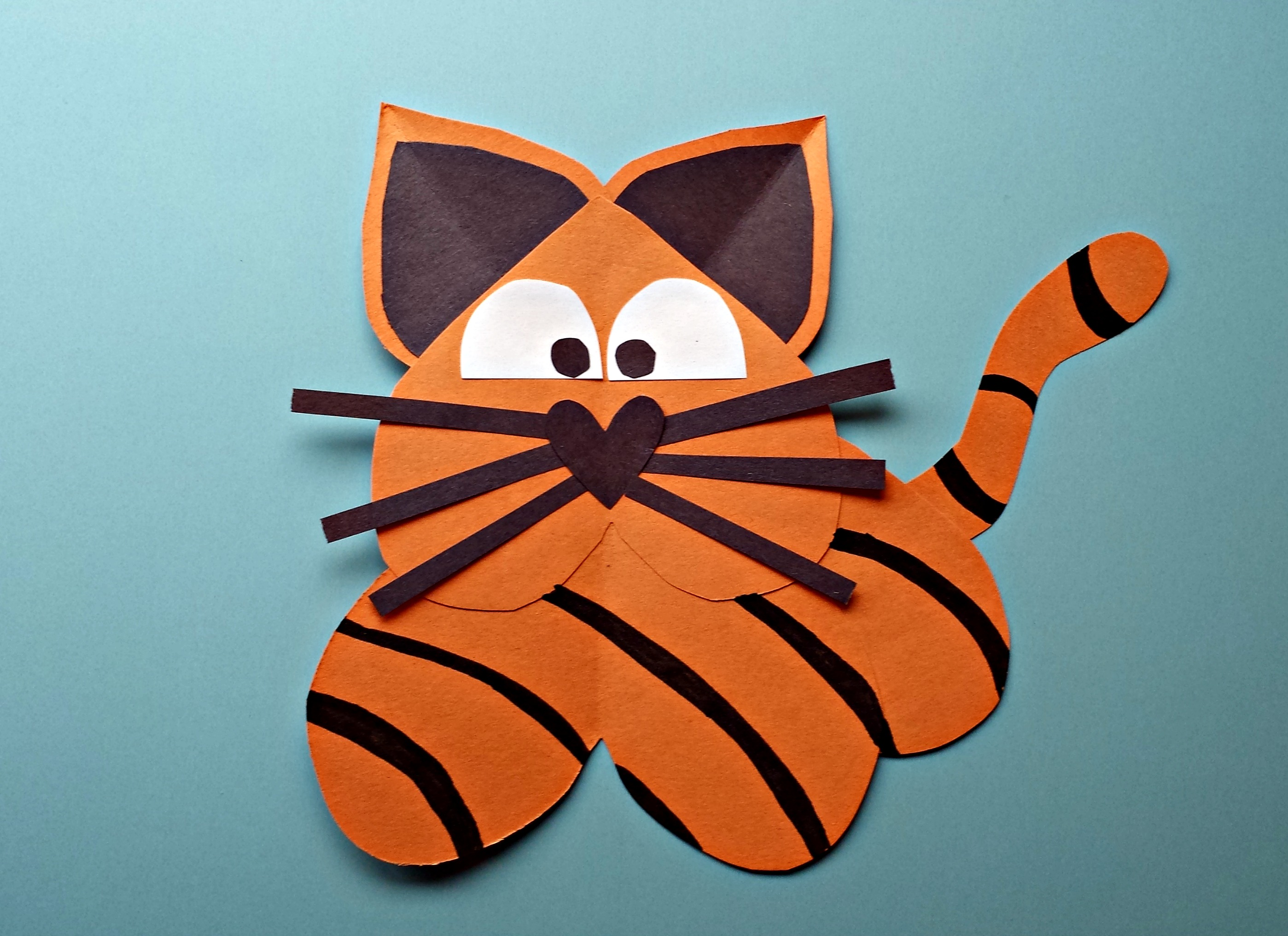 How To Make A Tiger Out Of Crafts