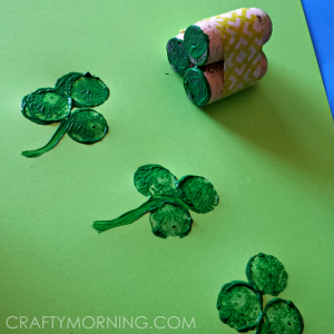 Wine Cork Shamrock Craft for St. Patrick's Day