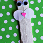 Popsicle Stick Bunny Craft for Kids