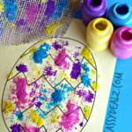 Burlap Easter Egg Painting Activity for Kids