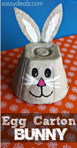 Húsvéti nyuszi tojástartó dobozból