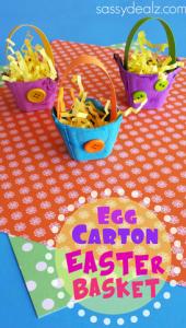 Egg Carton Easter Basket Craft for Kids