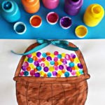 Fingerprint Easter Egg Craft (Free Basket Printable)