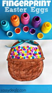 Fingerprint Easter Egg Craft (Free Basket Printable)