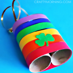 Rainbow Toilet Paper Roll Binoculars Craft for Kids