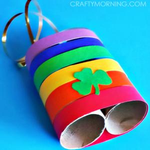 Rainbow Toilet Paper Roll Binoculars Craft for Kids