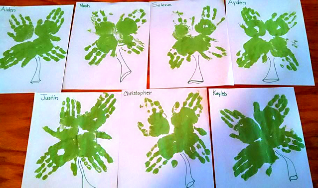 shamrock-handprint-crafts-for-kids-