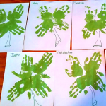 Shamrock Handprint Craft for St. Patrick's Day
