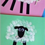 Fingerprint Sheep Craft for Kids