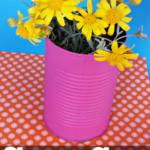 DIY Soup Can Flower Vase Craft