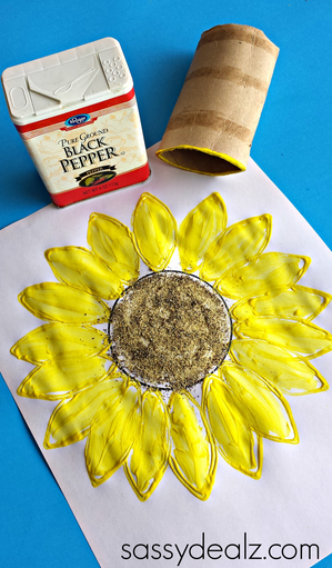 Sunflower Toilet Paper Roll Art