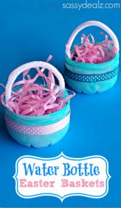 Water Bottle Easter Basket Craft for Kids